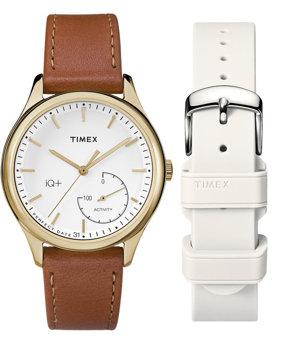 iQ+ Move 37mm Brown Strap/Cream Dial Gift Set  large