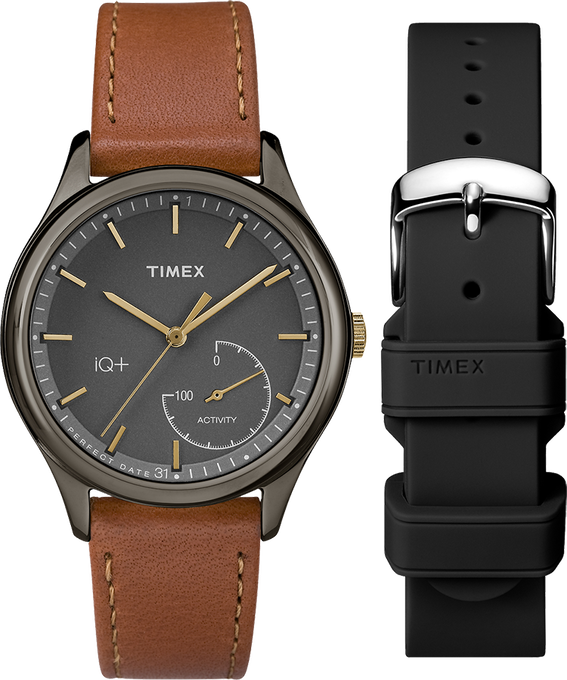 iQ+ Move 37mm Brown Strap/Black Dial Gift Set  large