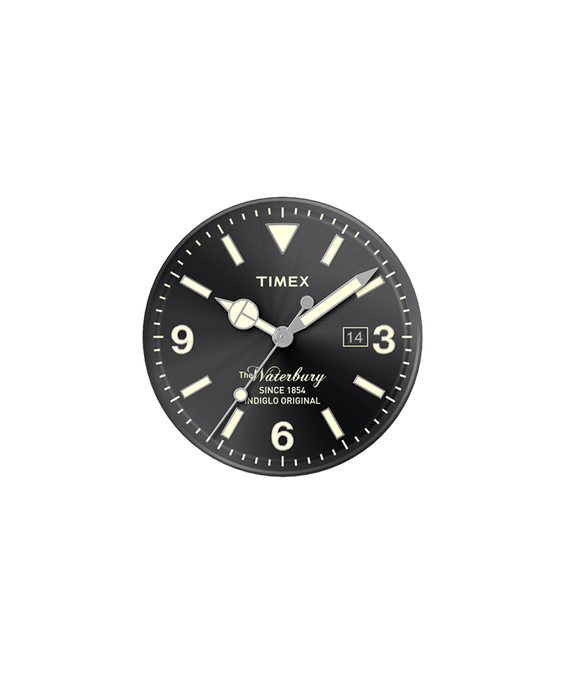 Black Dial / Silver-tone Second Hand  large