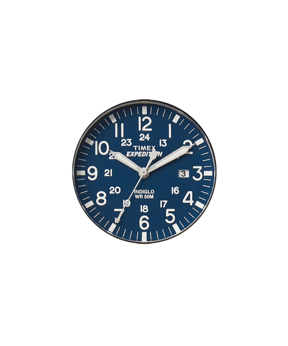 Blue Dial / Silver-tone Second Hand  large