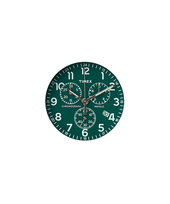 Green Dial / Silver-tone Second Hand  large
