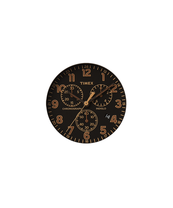 Black Dial / Tan Second-hand  large
