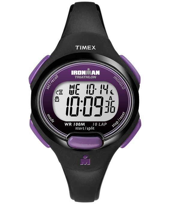 IRONMAN Essential 10 Mid-Size 34mm Resin Strap Watch Black/Purple large