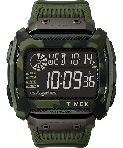 6f9bf2585fa9 Timex Command trade  Shock 54mm Resin Strap Watch Green large