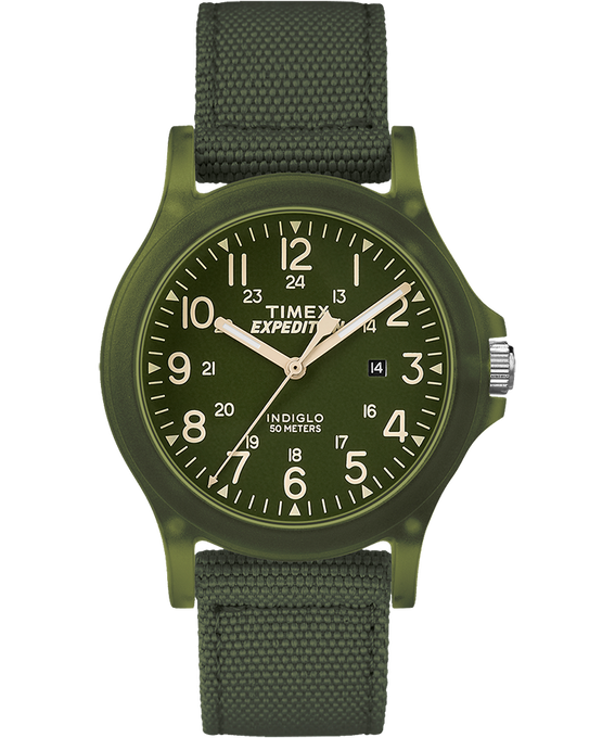 Expedition Acadia Midsize 36mm Fabric Strap Watch Green large