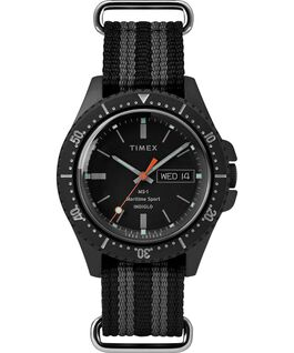 Timex x Todd Snyder MS-1 41mm Fabric Strap Maritime Sport Black large
