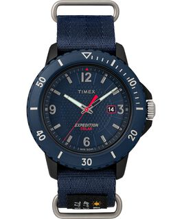 Expedition Gallatin Solar 44mm Fabric Strap Watch Blue large