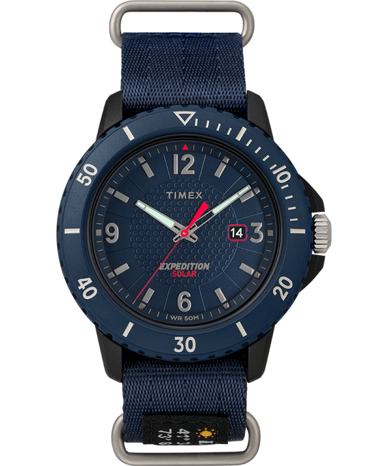 Expedition Gallatin Solar 45mm Fabric Strap Watch Blue large