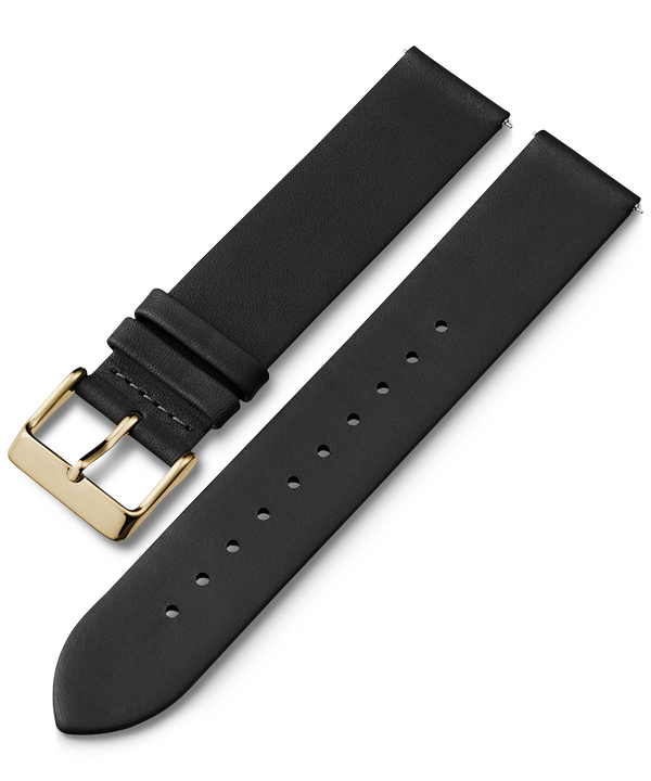 20mm Gold Buckled Quick Release Leather Strap  large