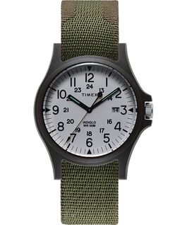 Acadia 40mm Fabric Strap Watch Green large