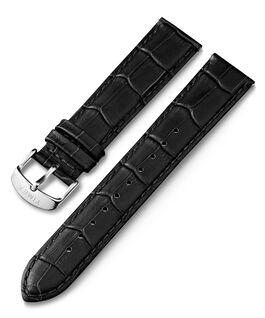 20mm Crocodile Pattern Quick Release Leather Strap Black large
