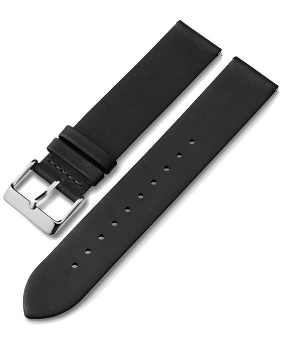 20mm Quick Release Leather Strap 1 Black large
