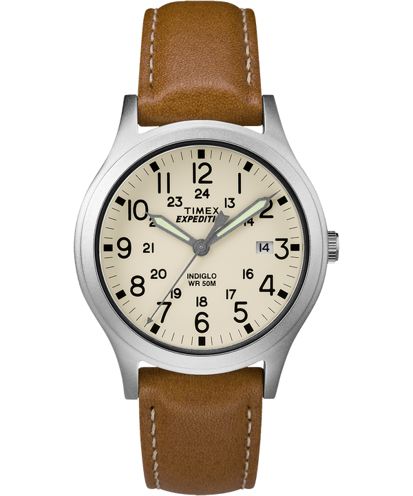 Expedition Scout Midsize 36mm Leather Watch  (large)