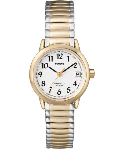 Easy Reader 25mm Bracelet Watch Two Tone White Large