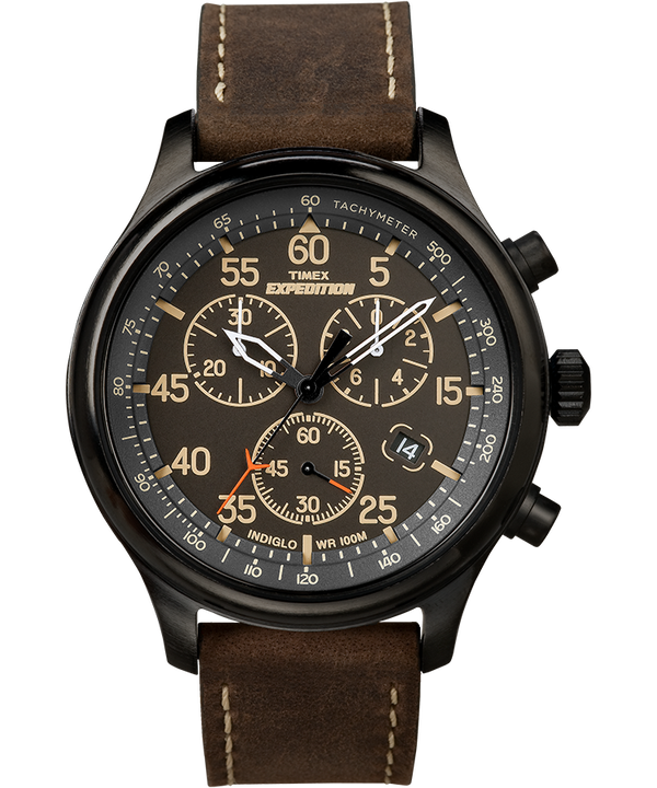 Expedition Field Chronograph 43mm Leather Watch  (large)
