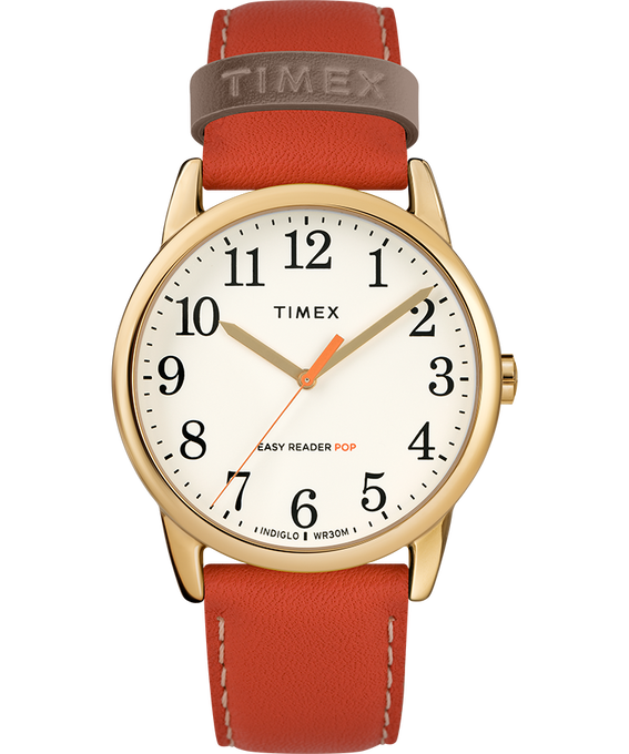 Easy-Reader-38mm-Exclusive-Color-Pop-Leather-Womens-Watch