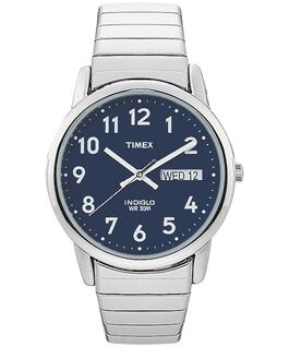 Easy Reader 35mm Stainless Steel Watch with Day Date Silver-Tone/Stainless-Steel/Blue large
