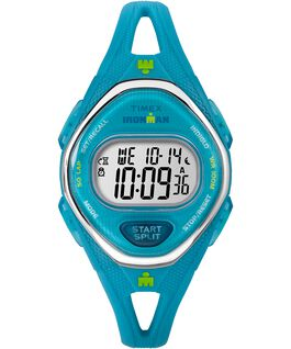 IRONMAN Sleek 50 Mid-Size 34mm Silicone Strap Watch Blue/Stainless-Steel large