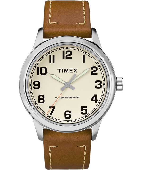 New England 40mm Leather Watch  large
