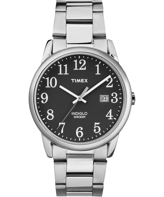 Easy Reader Date 38mm Bracelet Watch Silver-Tone/Black large