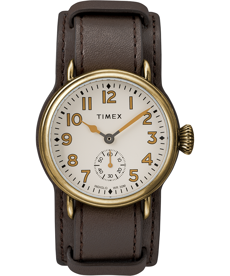 Welton 38mm leather strap stainless steel watch timex for Watches 38mm