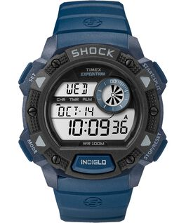Expedition Base Shock Gauge 45mm Resin Strap Watch Blue/Black large