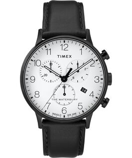 Waterbury-40mm-Classic-Chrono-Leather-Strap-Watch Black/White large