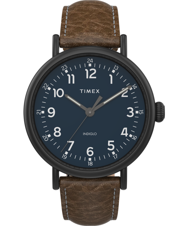 Timex Standard XL 43mm Leather Strap Watch  large