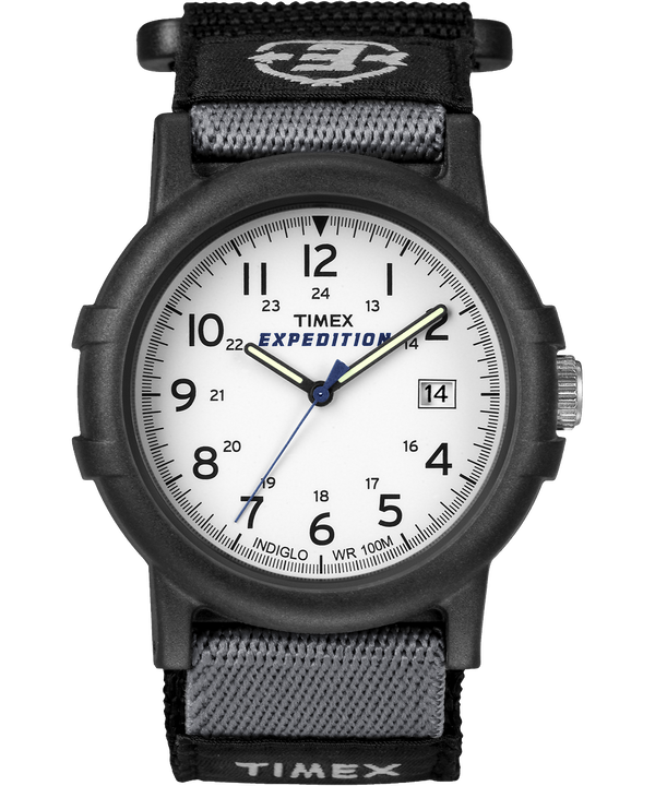 Expedition Camper 38mm Fabric Strap Watch Black/White large