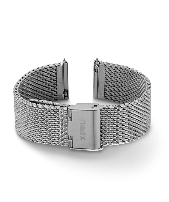 20mm Quick Release Mesh Band Silver-Tone large