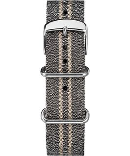 20mm Metallic Stripe Slip-Thru Fabric Strap Gray large