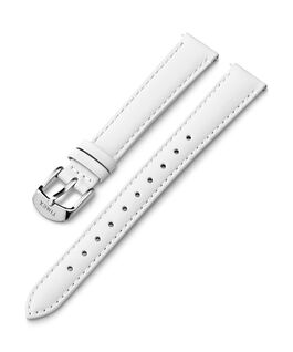 14mm Silver Buckle Leather Strap White large