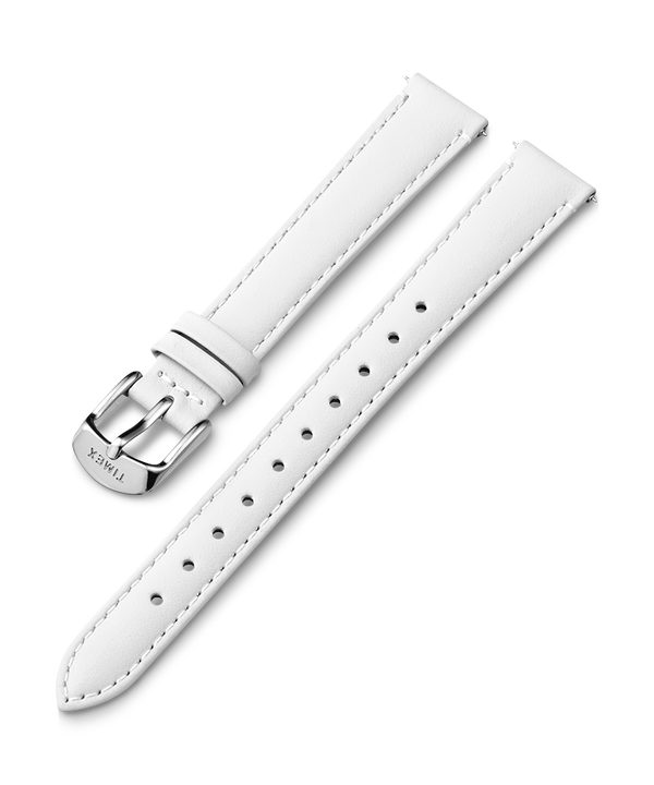 14mm Leather Strap White large
