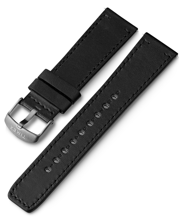 22mm Quick Release Leather Strap Black large