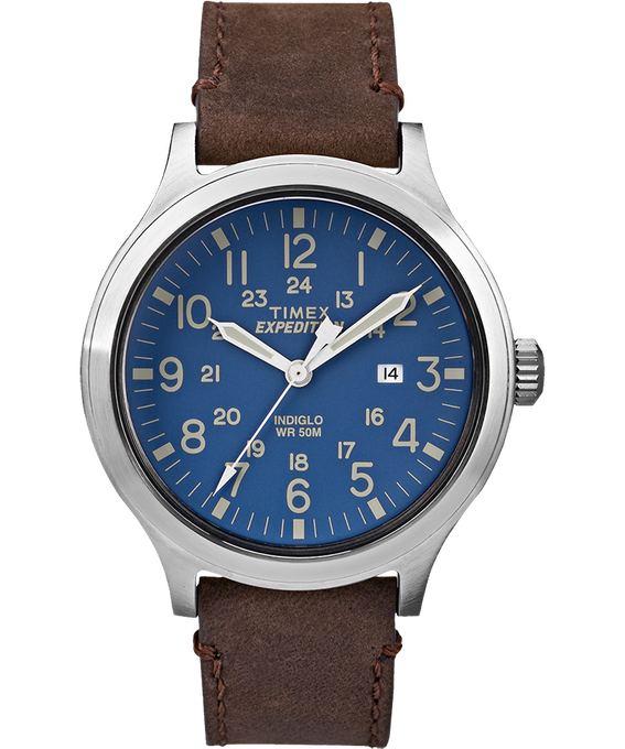 Expedition Scout 43mm Slip Thru Leather Watch