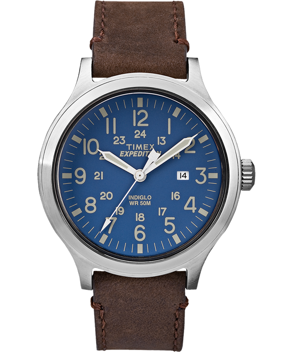 Expedition Scout 43mm Slip Thru Leather Watch  large