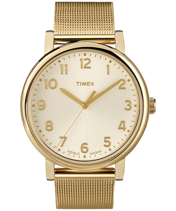Originals Mesh 38mm Stainless Steel Watch Gold-Tone/Champagne (large)