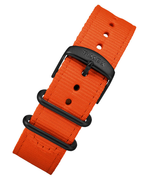 20mm Quick Release Leather Strap Orange large