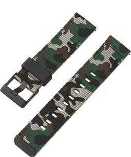 22mm Quick Release Green and Camo Fabric Strap Camo large
