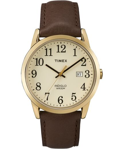 2659d79b559a1 Easy Reader 38mm Leather Strap Watch Gold-Tone Brown Cream large