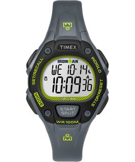 IRONMAN Classic 30 Mid-Size 34mm Resin Strap Watch Gray/Green/Black large