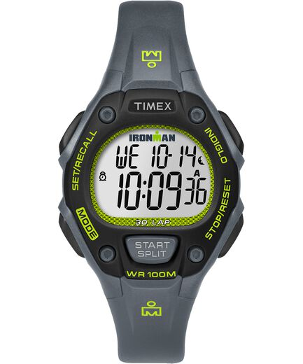 9245b5072735 IRONMAN Classic 30 Mid-Size Resin Strap Watch Gray Green Black large