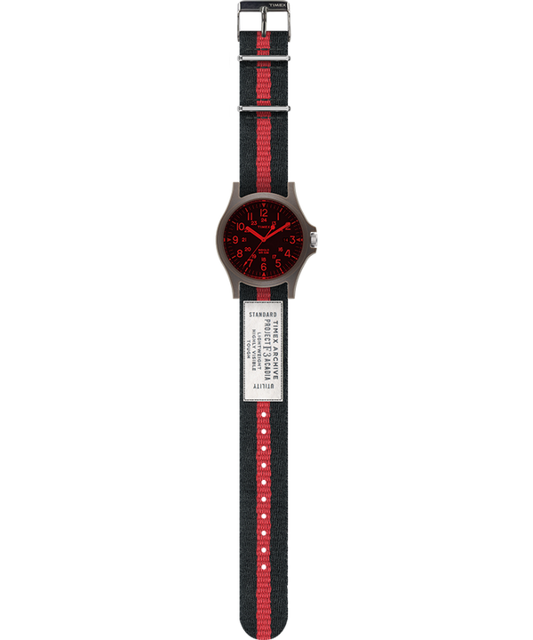 Acadia 40mm Fabric Strap Watch Red/Black large