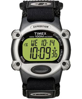 Expedition Chrono-Alarm-Timer 39mm Nylon Strap Watch Black/Silver-Tone large