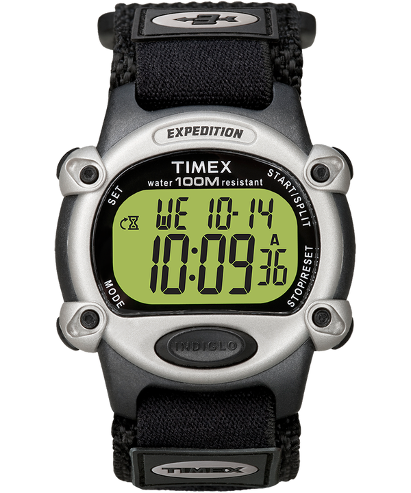 Expedition 39mm Nylon Strap Watch Black/Silver-Tone large