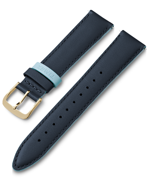 20mm Leather Strap Blue large