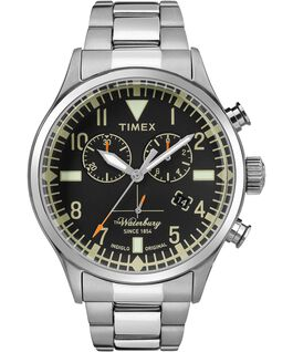 Waterbury Traditional Chronograph 42mm Stainless Steel Watch Stainless-Steel/Black large