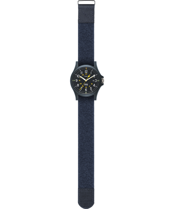 Acadia 40mm Hook-and-Loop Fabric Strap Watch Blue large