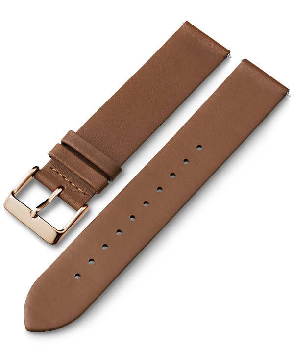 20mm Quick Release Leather Strap Tan large