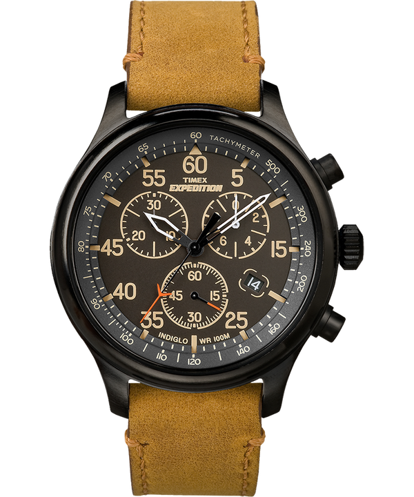 Expedition Field Chronograph 43mm Leather Watch  large